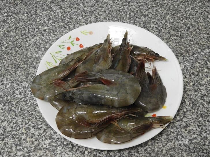 這鮮白蝦非常新鮮